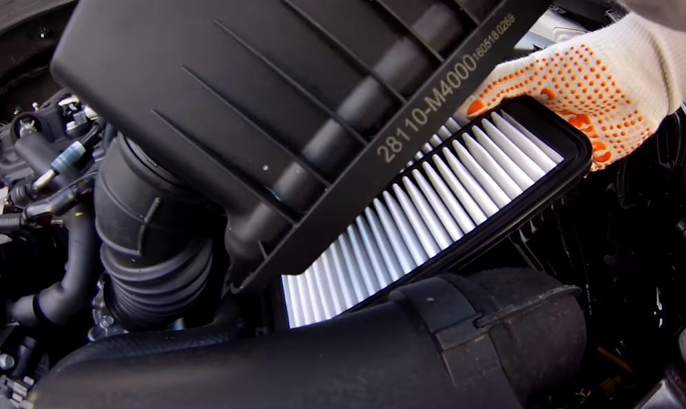 Воздушный фильтр Хендай Крета - замена шаг 5