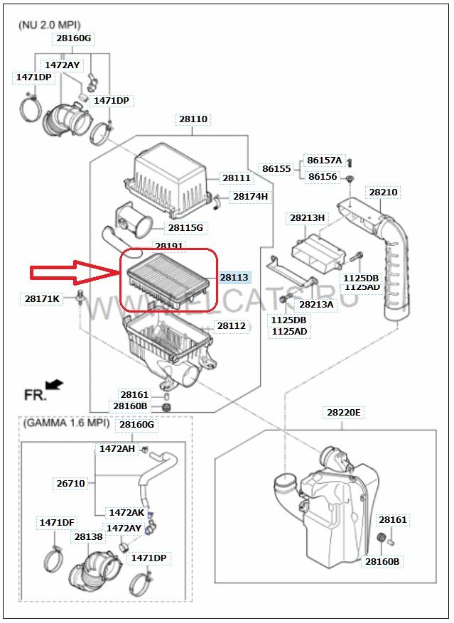 Какой выбрать воздушный фильтр для замены на Хендай Крета