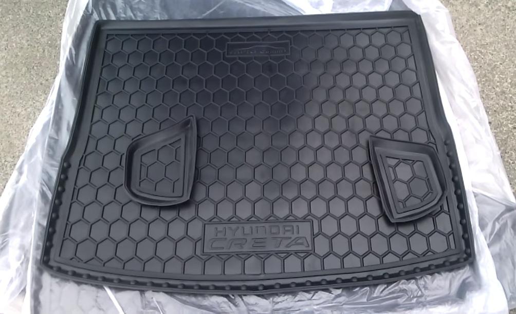 Полиуретановый коврик в багажник Хендай Крета
