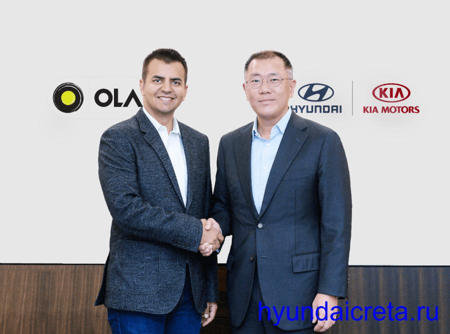 Hyundai инвестирует 300 млн долларов в такси Ola