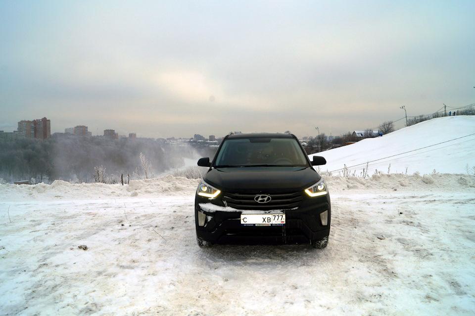 Хендай Крета черного цвета фото