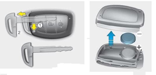 Инструкция по замене батарейки в ключе Хендай Крета