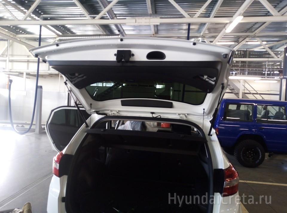 Как открыть багажник Хендай Крета из салона