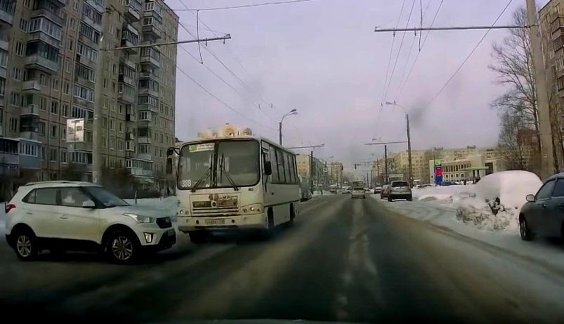 ДТП Хендай Крета и маршрутки