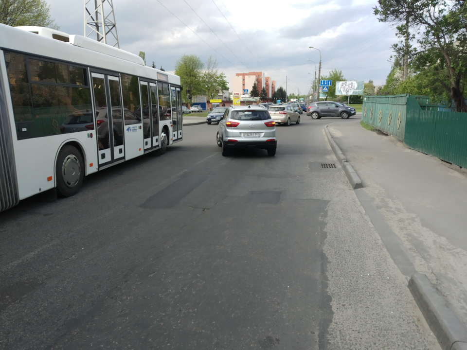 ДТП Хендай Крета ул. Владимирова г. Гомель