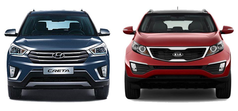 Hyundai Creta и Kia Sportage